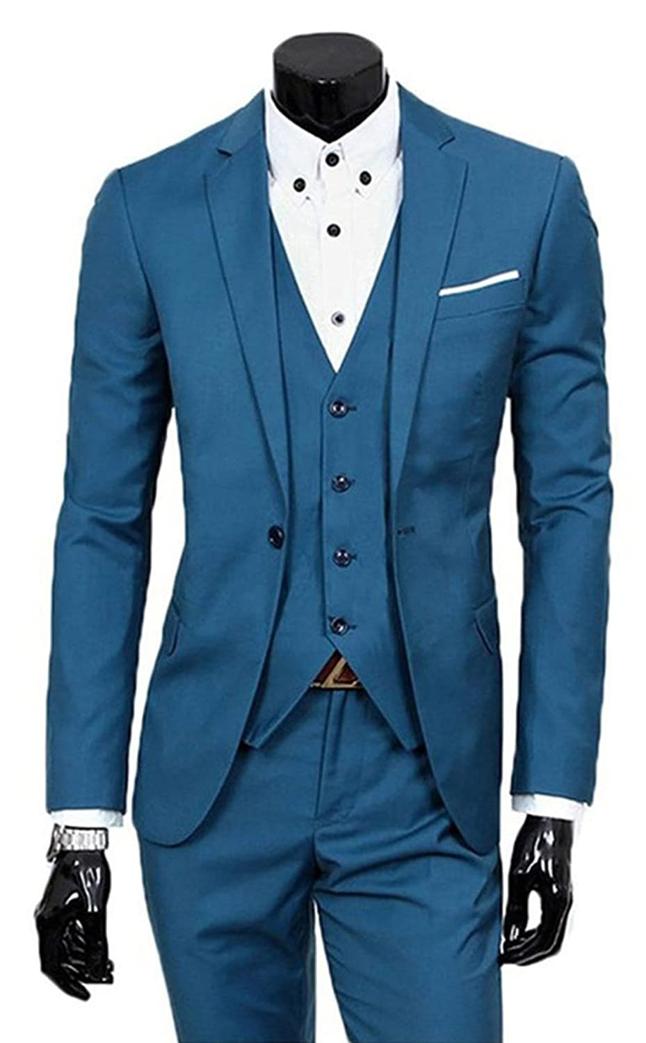 Mens Three Piece Tweed Suit Sale at Amazon Men\'s Clothing store: