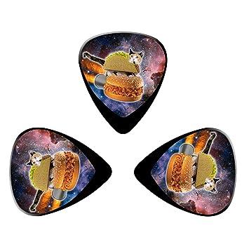 pimalico Classic Flycat diseño Púas (3 unidades) para guitarra eléctrica, guitarra acústica, mandolina, y Graves/negro: Amazon.es: Instrumentos musicales
