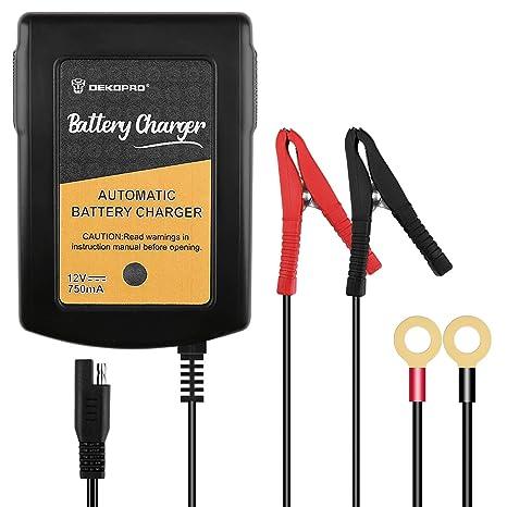 Amazon.com: DEKOPRO Cargador de batería 12 V, 0,75 A ...