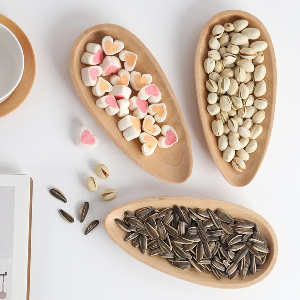 He Xiang Ya Shop Wooden plate solid wood European melon tray living room creative snack box home modern minimalist dried fruit box melon tray (Color : Wood color, Size : 209.52cm) by He Xiang Ya Shop (Image #2)