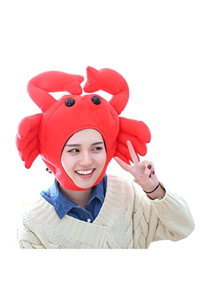Newhui Funny Roast Turkey Cow Lobster Headgear Hat Halloween Christmas  Animal Cosplay Headwear Plush