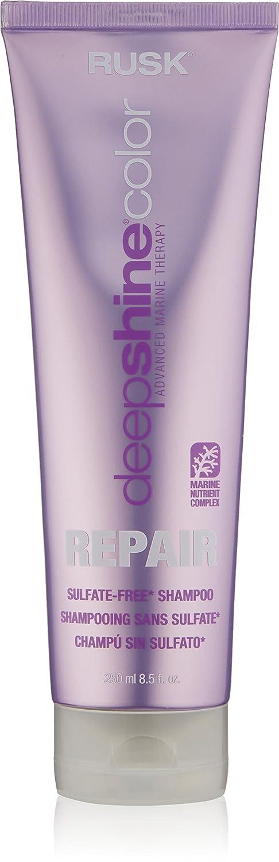 RUSK Deepshine Color Repair Sulfate Free Shampoo, 8.5 Fl Oz