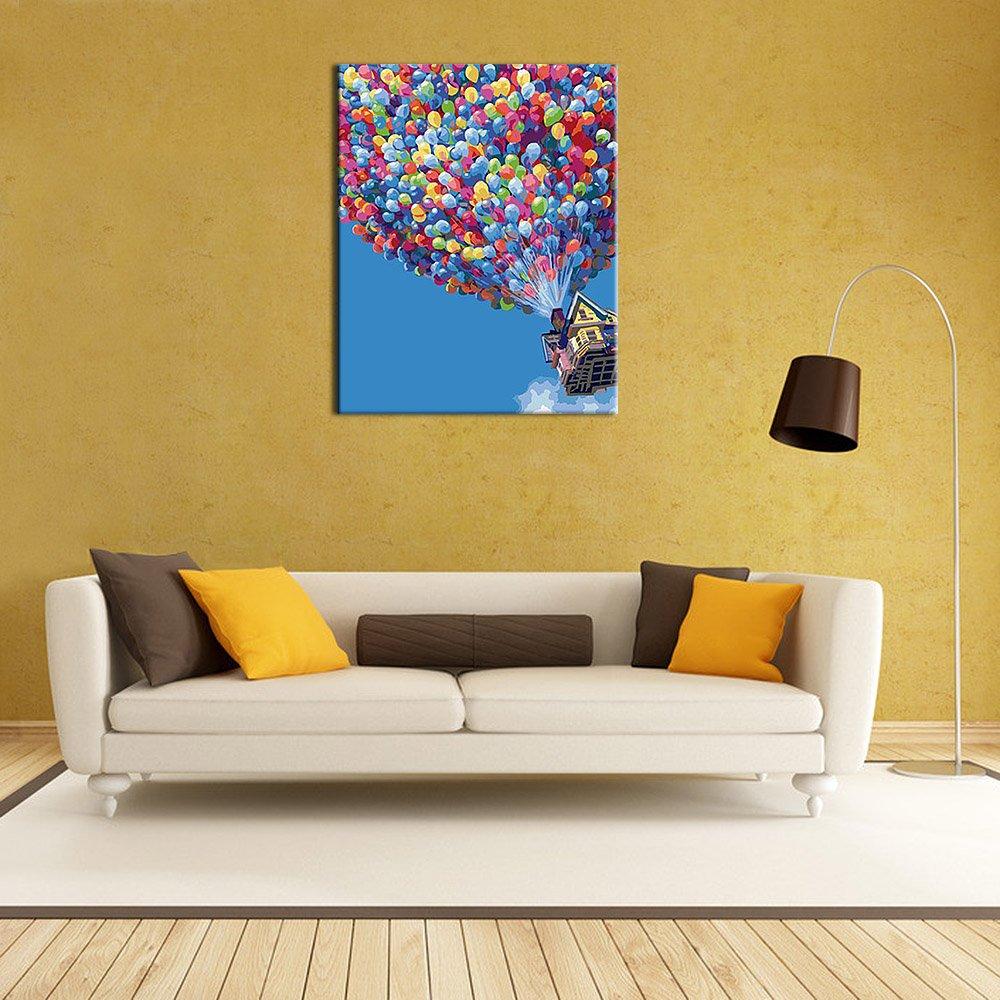 Anself 40*50cm Num/érique Toile Peinture Bricolage L/à-haut Peints /à la Main