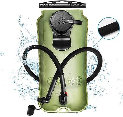 2L Foldable TPU//EVA Water Bag Bike Hydration Bladder for Camping Running Cycling