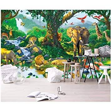 Ytdzsw Mural Personalizado Papel Tapiz Fotográfico 3D Mundo Animal ...