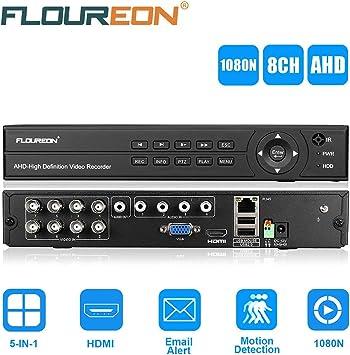 5 IN 1 TVI 8CH AHD 1080N HDMI H.264 DVR NVR CCTV Sicherheit Videorecorder NEU EU