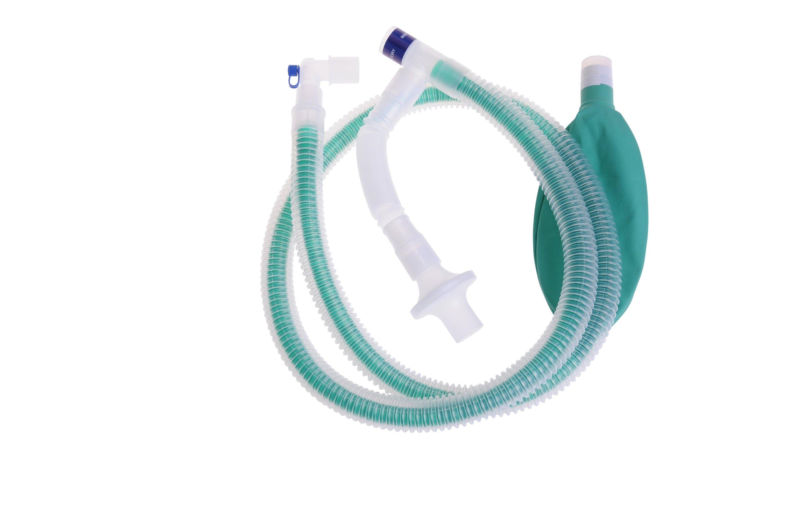 Medline DYNJAPF4000A Pediatric 40'' Unilimb Anesthesia Circuit w/Gas Sampling Line (Case of 20)