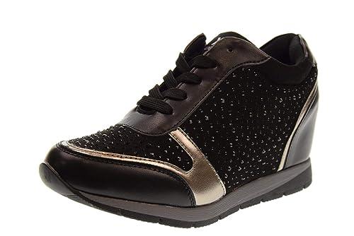 XTI Zapatos Mujer Zapatillas con cuña 48513 Negro: Amazon.es: Zapatos y complementos