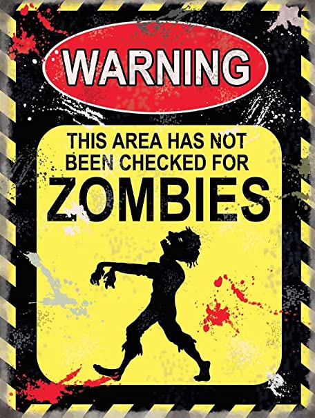 empireposter Warning Zombies Cartel de Chapa Placa Metal ...