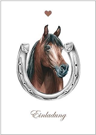 Erhältlich Im 1er 4er 8er Set: U0026quot;Einladungu0026quot; Für Alle Reiter Und  Pferde