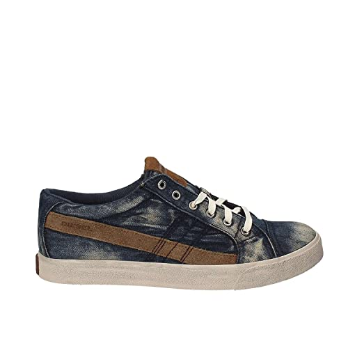 Diesel - Zapatillas de Lona para Hombre Azul Azul: Amazon.es: Zapatos y complementos