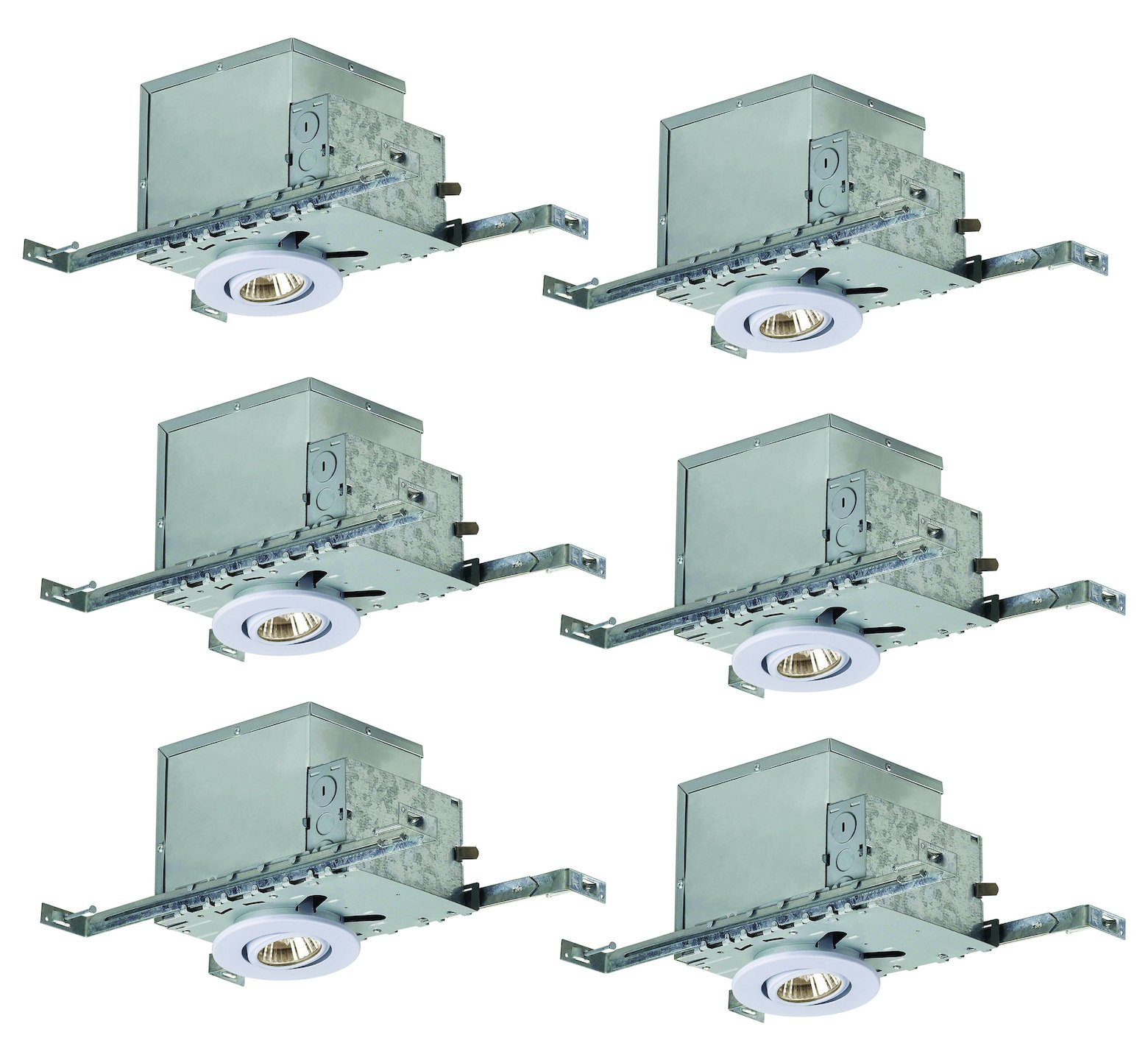 Recessed, Ri3Nc1Tgwh-6, 3In. Insulated with Tilting Gimbal Trim, 6-Pack Box, N White