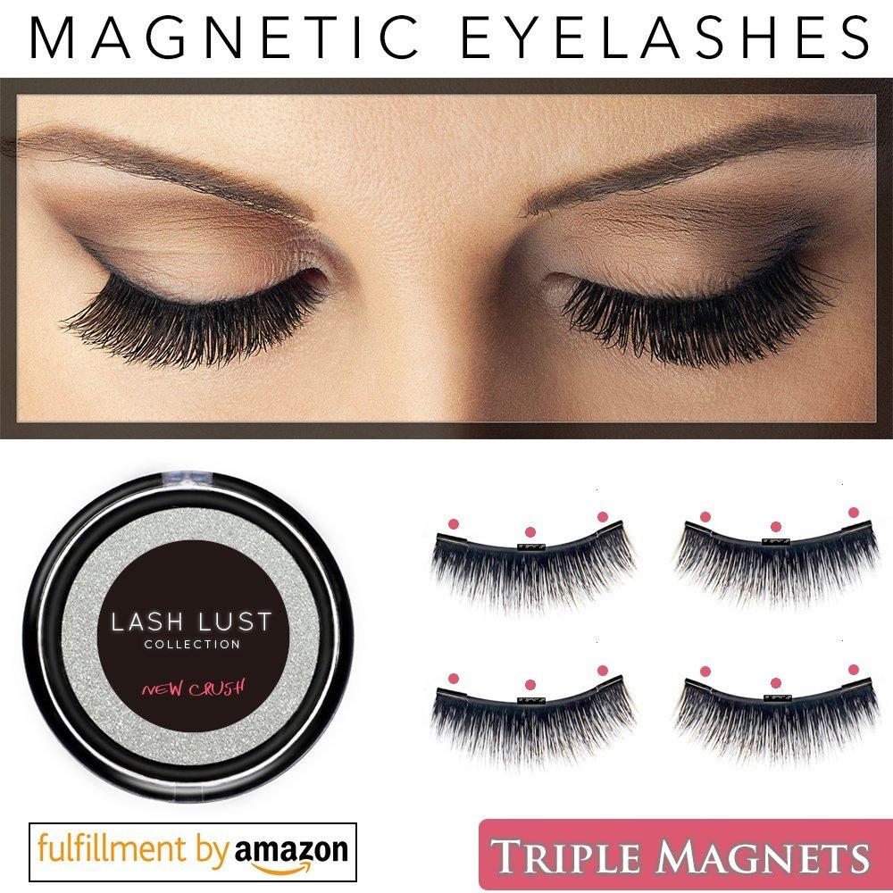 Amazon False Magnetic Eyelashes Premium Triple Magnets2set Or