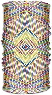Rghkjlp Headwear Headband Colorful Lines Print Head Scarf Wrap Sweatband Sport Headscarves for Men Women Multicolor3