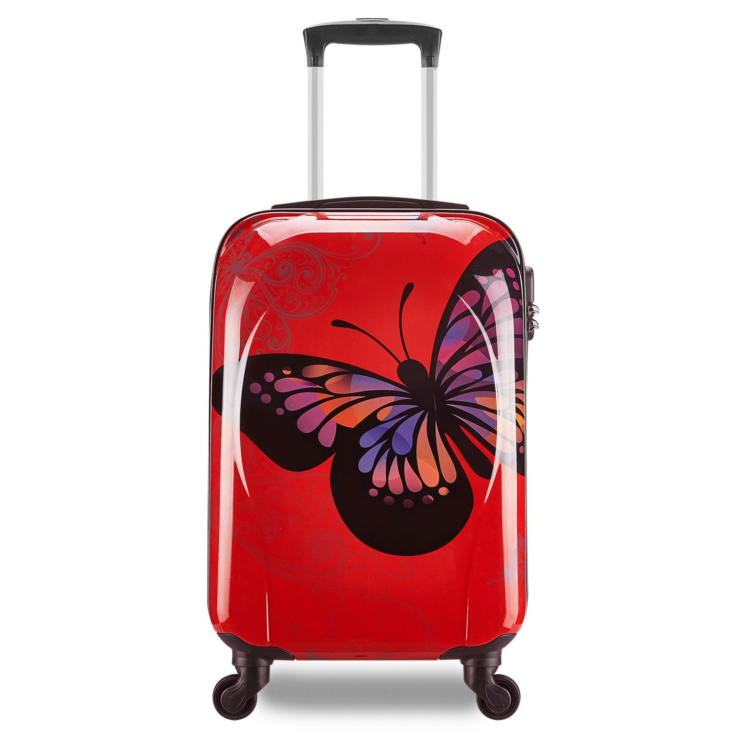 Small Light Hard Case Cabin Carry On Travel Suitcase Bag Max For Virgin Atlantic