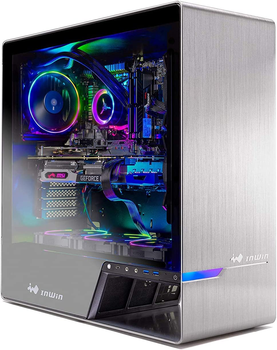 Skytech Legacy Gaming Computer PC Desktop – Ryzen 7 3700X 3.6GHz, RTX 2080 TI 11G, 500GB SSD, 16GB DDR4 3000MHz, RGB Fans, Windows 10 Home 64-bit, 120mm AIO Cooler, 802.11AC Wi-Fi