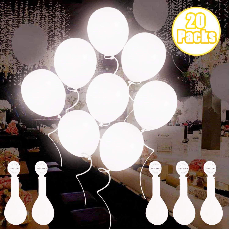 Globos de luz LED blancos, Globos LED Luz para Fiesta...