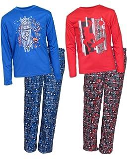 Sleep On It Boys 4-Piece Long Sleeve and Pants Pajama Set