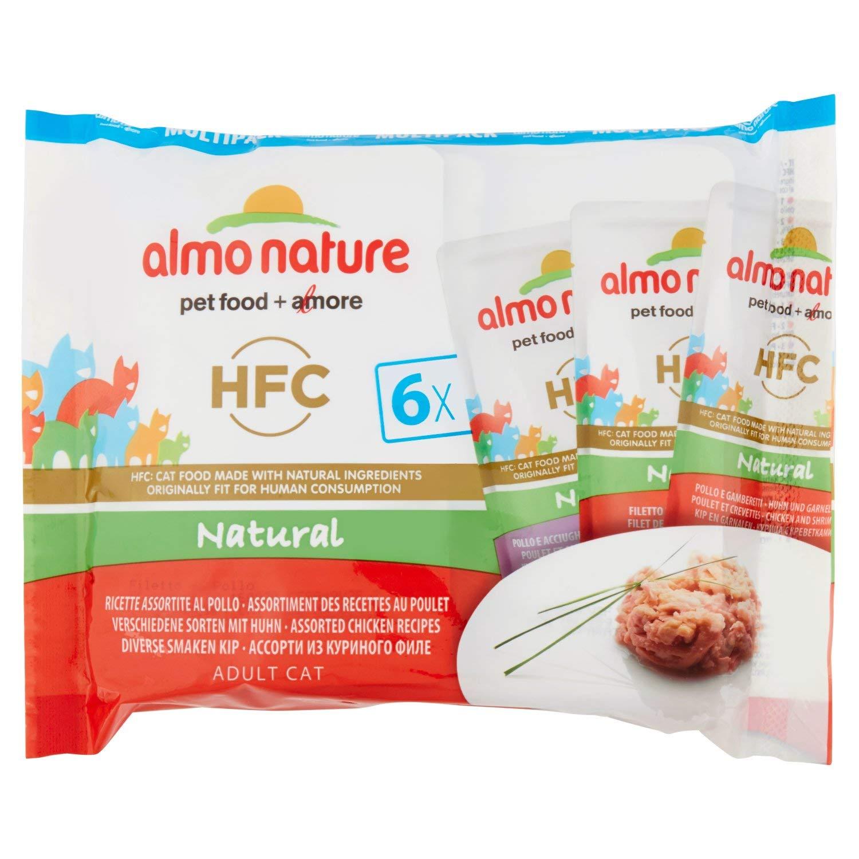 Almo nature HFC Natural Pollo húmedo Gato - 6 Sobres: Amazon.es: Productos para mascotas