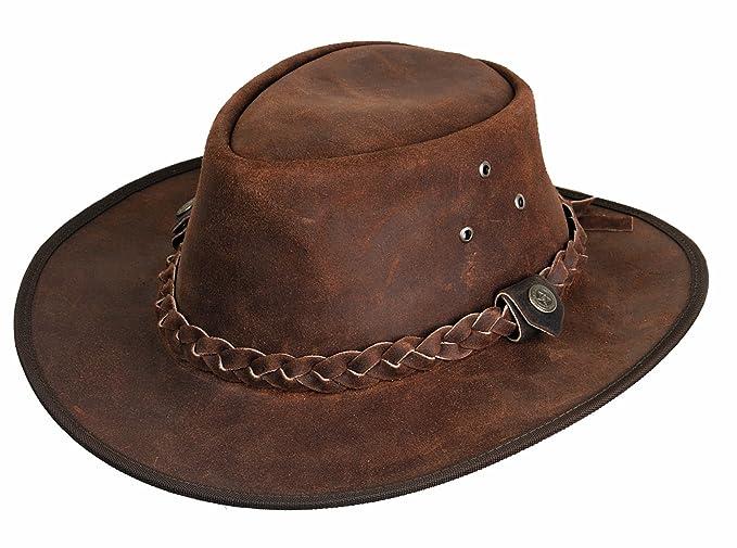 Hooley Cappello in Pelle cappello da uomo cappello da cowboy cappello  australiano  Amazon.it  Sport e tempo libero 5a70d82586ae