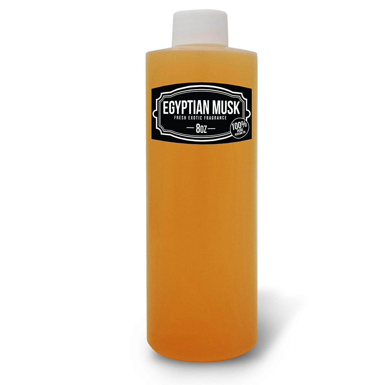 8 oz, Light Brown Egyptian Musk Body Oil Scented Fragrance