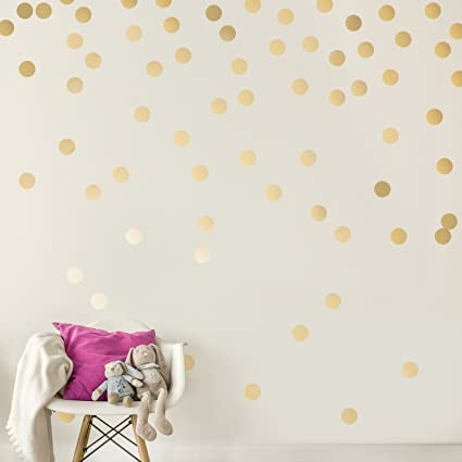Wonderful Easy Peel + Stick Gold Wall Decal Dots   2 Inch (200 Decals)