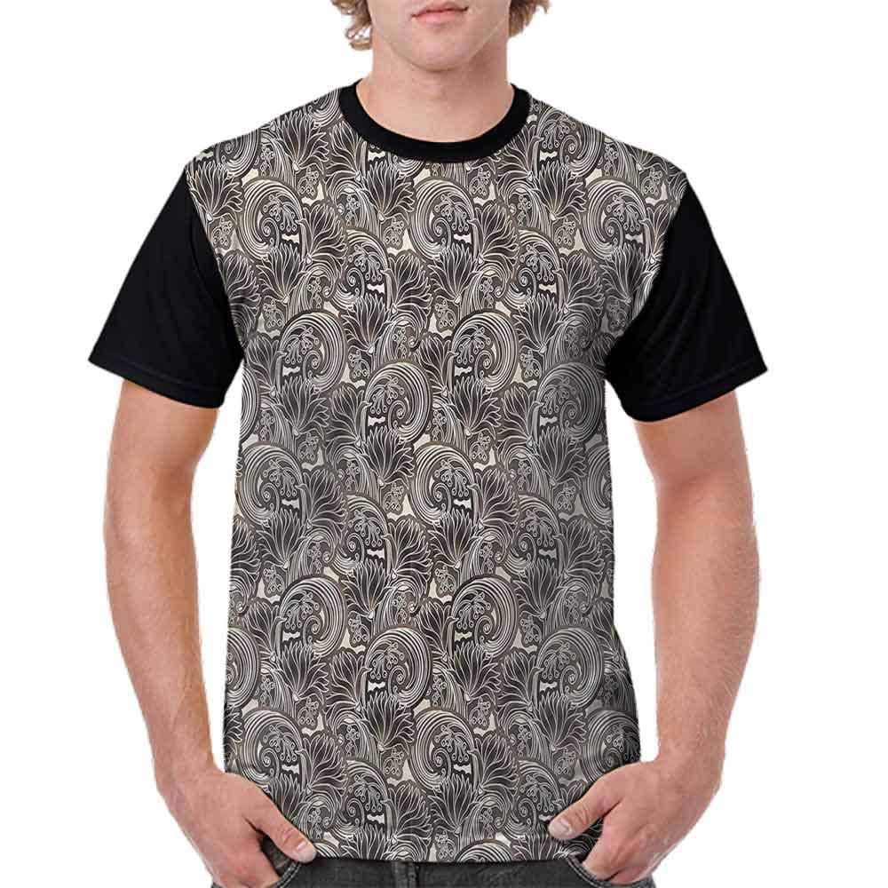 BlountDecor Casual Short Sleeve Graphic Tee Shirts,Chrysanthemums and Berries Fashion Personality Customization
