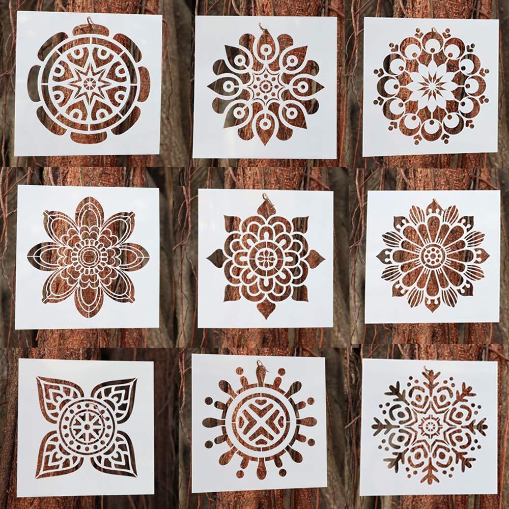 Baisdy Mandala Stencils Wall Stencil For