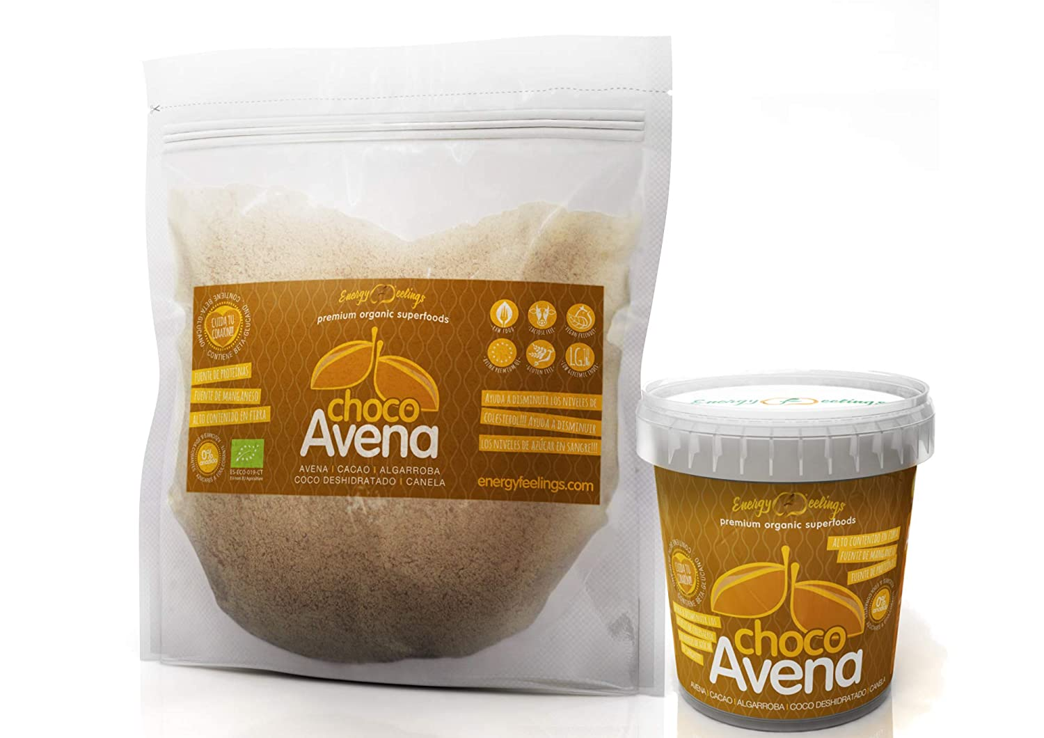 Energy Feelings Choco Avena Eco - 1000 gr: Amazon.es: Salud y cuidado personal