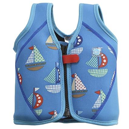 Splash About BJSS1 - Chaleco flotador para niños, color azul, con diseño de barcos