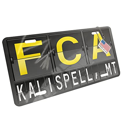 Amazon com: NEONBLOND Metal License Plate FCA Airport Code