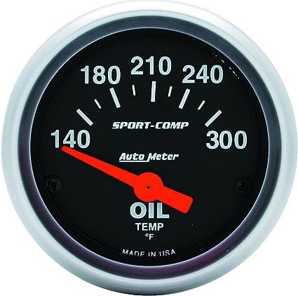 Auto Meter 3348 Sport-Comp Electric Oil Temperature Gauge