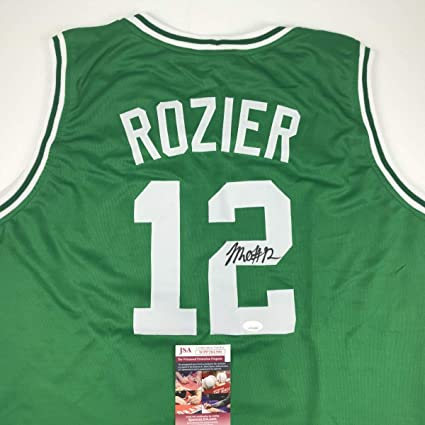 f77778ed5ea Autographed Signed Terry Rozier Boston Green Basketball Jersey JSA ...