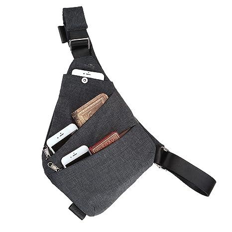 dd34091b73 Faleto antifurto di sicurezza nascosta borsa a tracolla ascellare ascella  borsa telefono portatile zaino per Phone