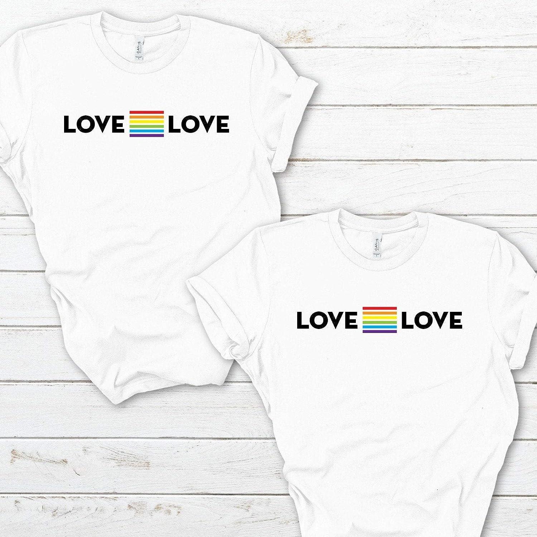 Love equal love pride t-shirt//UNISEX Rainbow tee//Pride gift//LGBT flag tshirt//Gay Pride//Cute LGBTQ shirt//Pride Week Gift