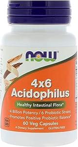NOW Foods, ACIDOPHILUS 4 X 6 BILLION 60 CAPS ( Multi-Pack)