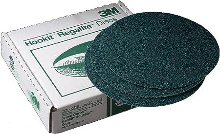 3M 00525 Green Corps Hookit 8 36E Grit Regalite Disc