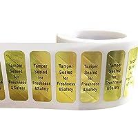 Tamper Sealed for Freshness and Safety Food Delivery Stickers Tamper Evident Labels 0.5 x 1.5 Inch 500 Tamper-Resistant Holographic Labels