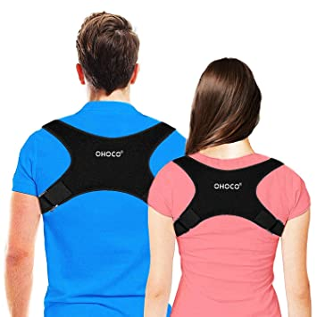8149a18f765 Amazon.com: Back Posture Corrector for Women and Men - Adjustable ...