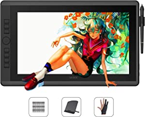 VEIKK VK1560 Pro 15.6 Inch Pen Display Graphics Monitor IPS HD Screen Drawing Monitor with 7 Shortcut Keys and a Quick Dial (92%NTSC,8192 Level Pressure,2 Battery Free Pen)