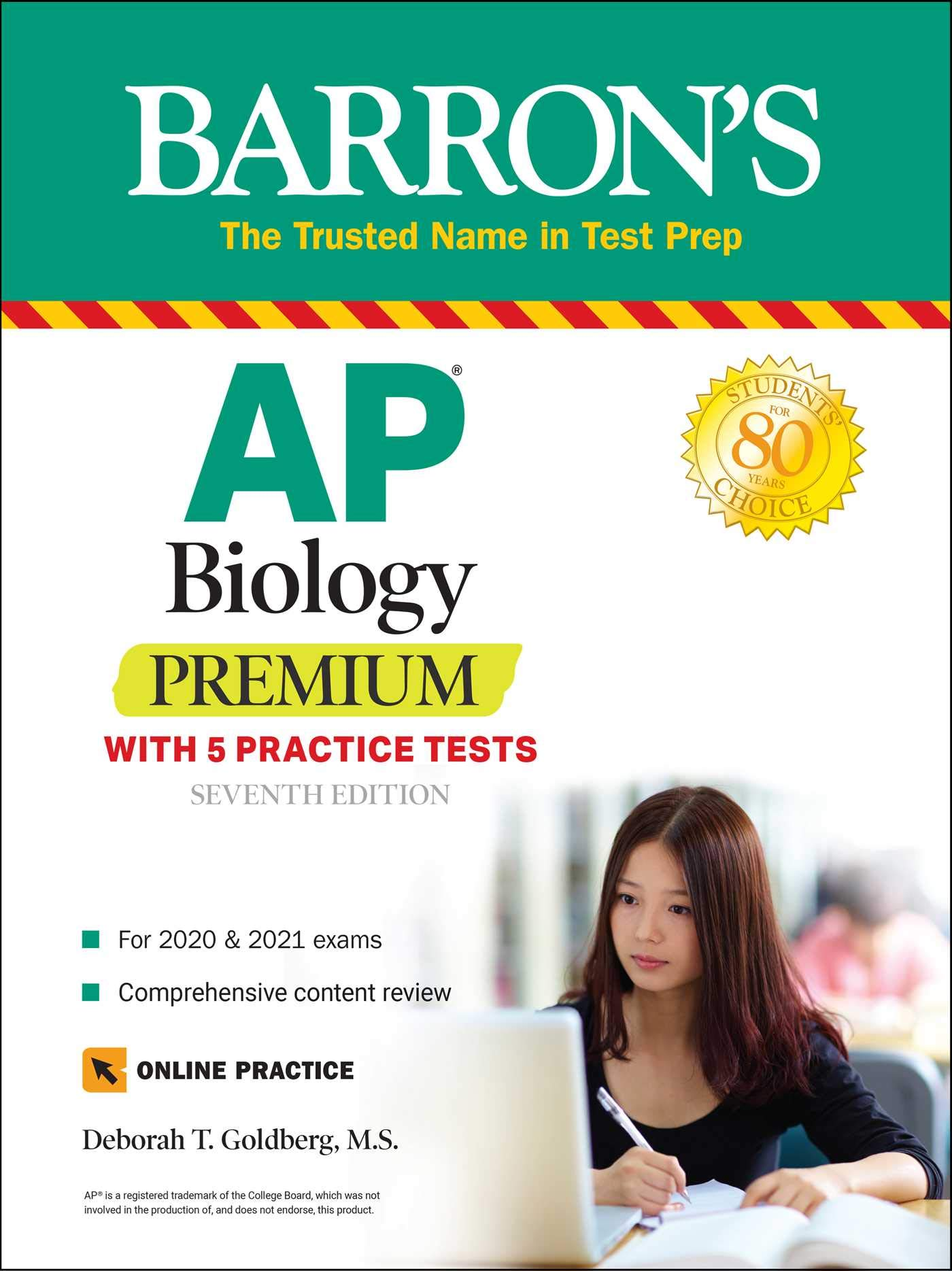 Image for AP Biology Premium: With 5 Practice Tests (Barron's Test Prep)