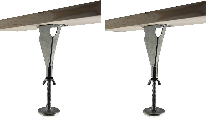Kings Brand Furniture - Adjustable Height Center Support Leg for Bed Frame (Set of 2)