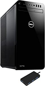 Dell XPS 8930 (2020) Home and Business Desktop (Intel i7-9700 8-Core, 32GB RAM, 1TB PCIe SSD + 3TB HDD (3.5), GTX 1650, WiFi, Bluetooth, 6xUSB 3.1, 1xHDMI, Win 10 Home) with USB3.0 Hub