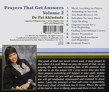 Dr Pat Akindude - Prayers That Get Answers Vol 2 - Amazon