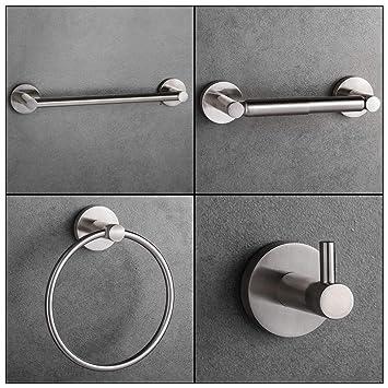 Amazon.com: LUCKUP - Juego de accesorios para baño (níquel ...
