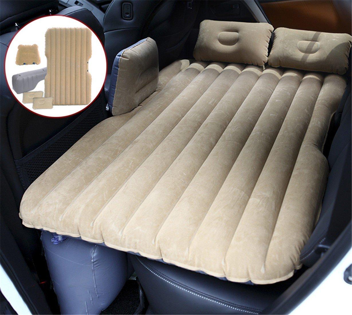 STAZSX Auto aufblasbare Bett reisebett SUV matratze Auto Hinten auspuff Pad Bett autositz Erwachsene schlafauflage, khaki-135x78CM