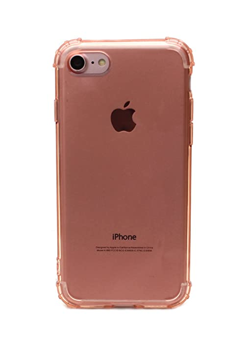 Sharp Icon Soft Clear Transparent Bumper Protective Soft TPU Back Case Cover for Apple iPhone 7   Rose Gold Cases   Covers