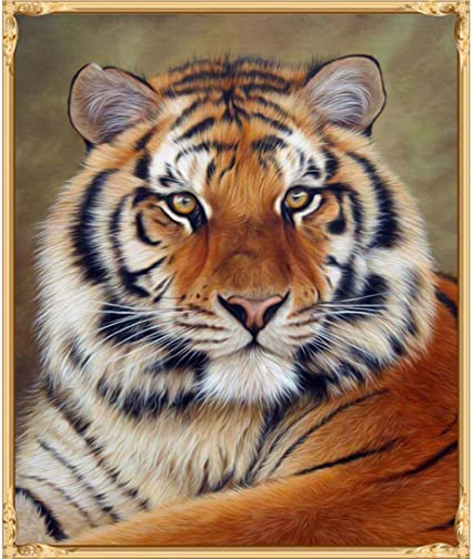 5D Full Drill Tiger Diamond DIY Painting Craft Kit Home Wall Hanging Decor Gifts