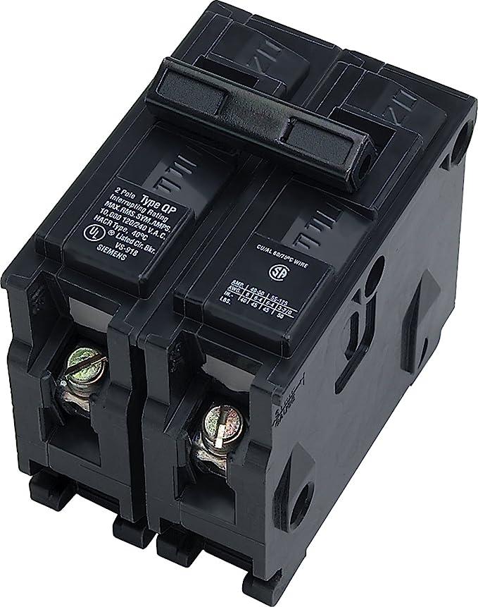 Siemens Q21530CTNC quad breaker with 1-Double pole 30A and 2-Single pole 15A bre