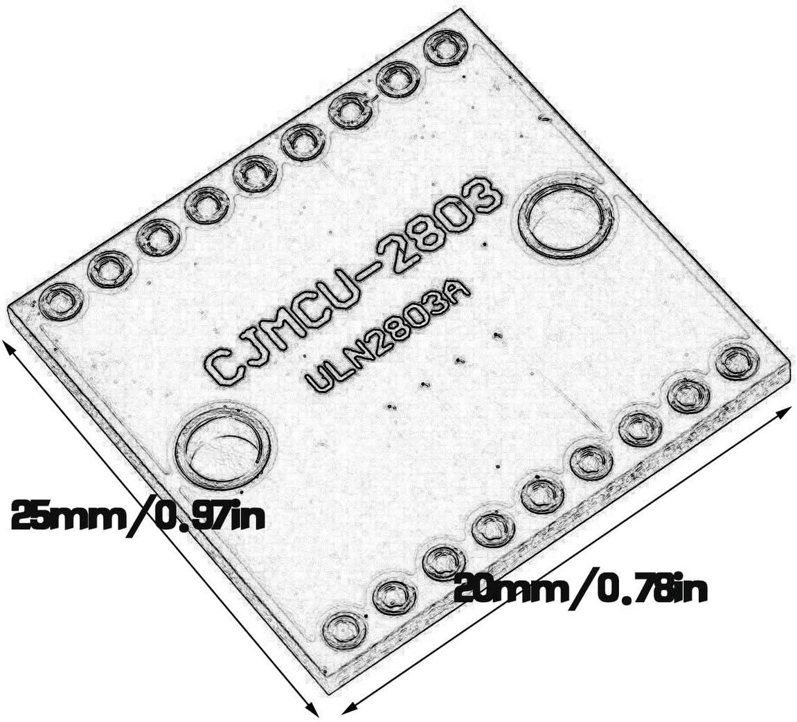 lila Biyi ULN2803A Darlington Rohr Hochdruck gro/ßer Stromtreibermodul